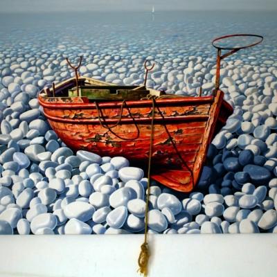 Sylvana Samartzidou Red boat