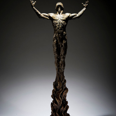 Born-of-Fire-Front-View-Ian-Edwards-Studios-Sculpture-Bronze