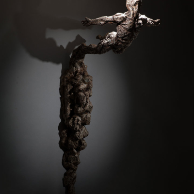 Leap-of-Faith-Wall-Hanging-Ian-Edwards-Studios-Sculpture-Bronze